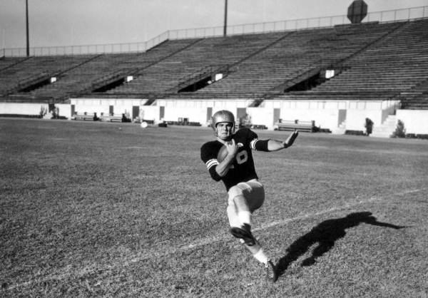 Burt Reynolds, halfback, Florida State University: Tallahassee, Florida