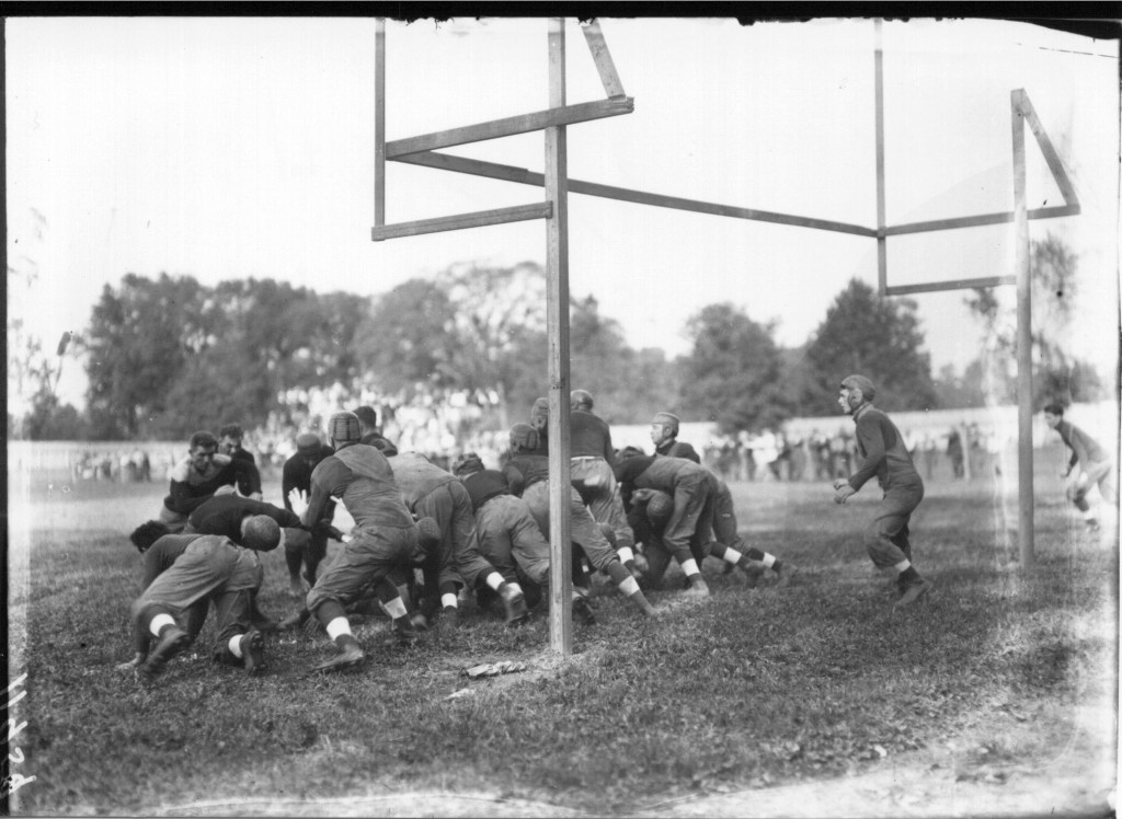 Goal line action at Miami-Wilmington football game 1912